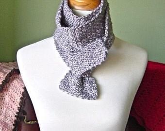 The Lola Scarf - Luxurious Hand Crochet Skinny Silk Scarf