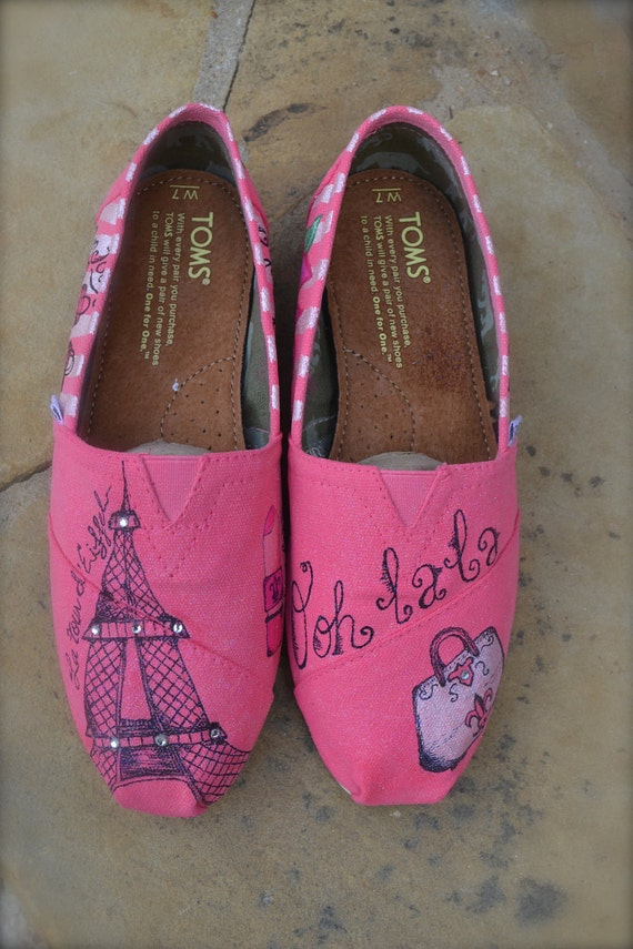 Paris Theme Custom TOMS by Artistic Soles
