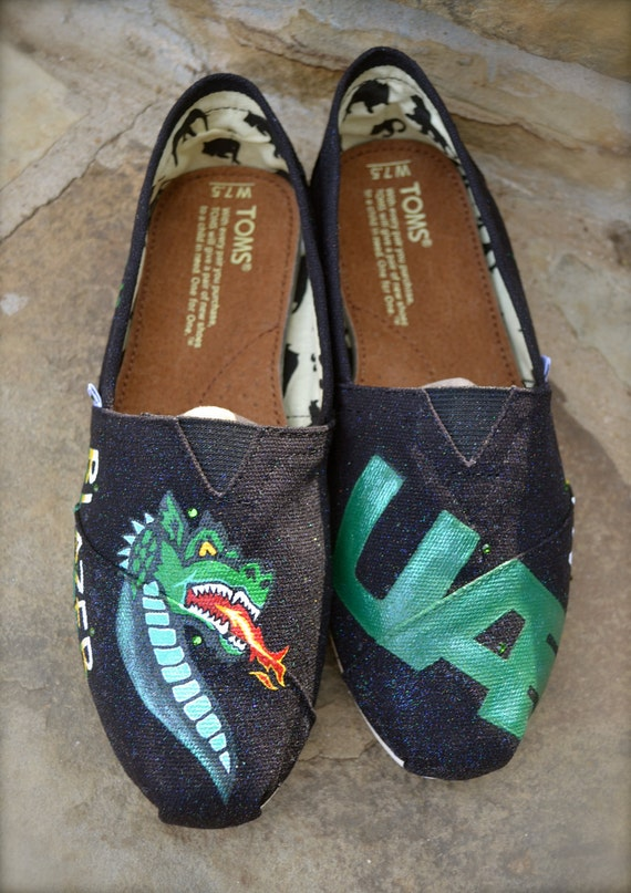 University Custom Painted TOMS Shoes