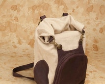 Roll Top Backpack- Canvas and Leather Backpack