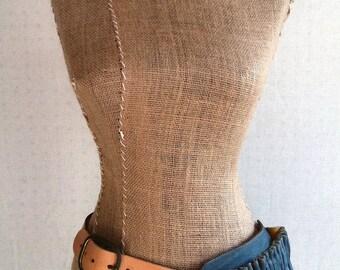 Leather Hip Bag- Teal Hip Pocket Belt