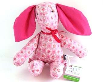 Emma The pink Rabbit - Soft cotton Toy for Baby and Toddlers - Eco Friendly Toy, Easter Bunny gift