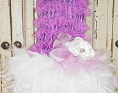 Lavender Mist Laced Top and Feathered Skirt