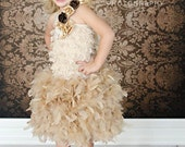 Original - Birthday Surprise Couture Girl  Feather Dress