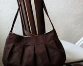 Brown Corduroy Purse - Pleated Purse / Handbag - Large Buttercup Bag