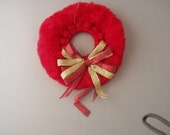 Macrame Wreath Ornament (Red)