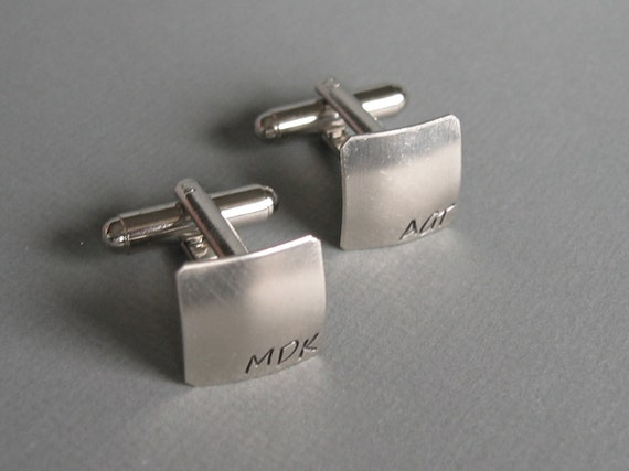 Square Cuff Links -- Monogram Personalized CUFFLINKS