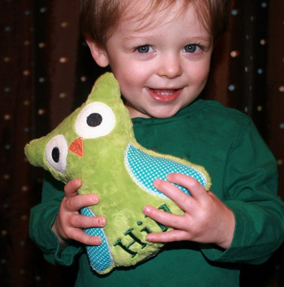Stuffed Owl - Personalized Stuffed Animal - Choose from 30 Color Options