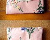 Elegant Cosmetic and other pouch with zipper and hocks