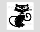 Retro Cat Pattern, Cross Stitch Pattern, Cross Stitch Cats Design, Needlepoint Patterns, Cat Pattern by NewYorkNeedleworks on Etsy