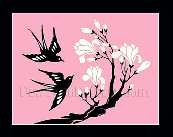 Birds Cross Stitch Pattern, Swallows, Birds Pattern, Needlepoint, Birds Cross Stitch, Bird Silhouette, Bird from NewYorkNeedleworks on Etsy