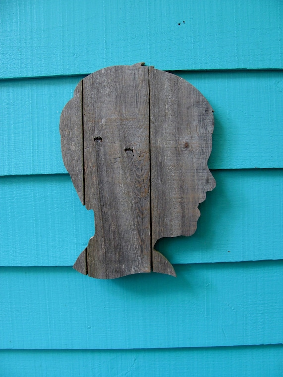 Custom Silhouette Portrait made of recycled wood