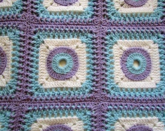 PDF Crochet Pattern -  Tide Pool Baby Blanket (permission to sell finished item) - Instant Download