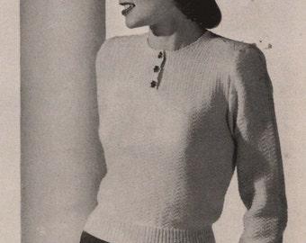 PDF of Womens Blouse Knitting Pattern