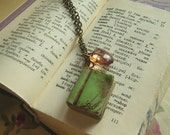 Old Library book necklace - custom colors