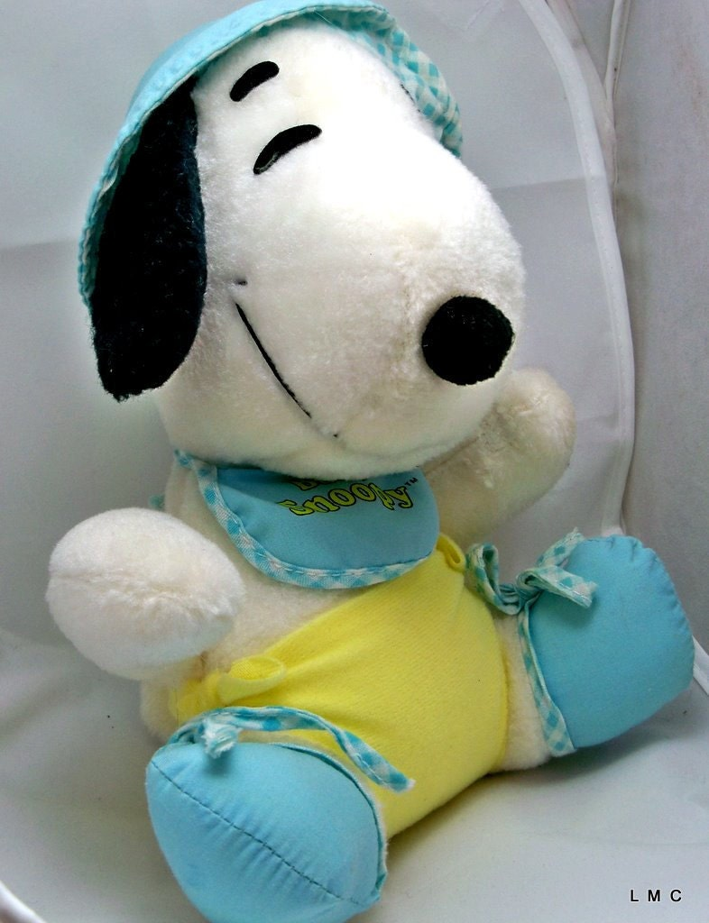 Plush Baby Snoopy Stuffed Animal Vintage Knickerbocker 9