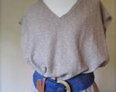 SALE Vintage Belt // 80s Natural Woven Belt / Medium