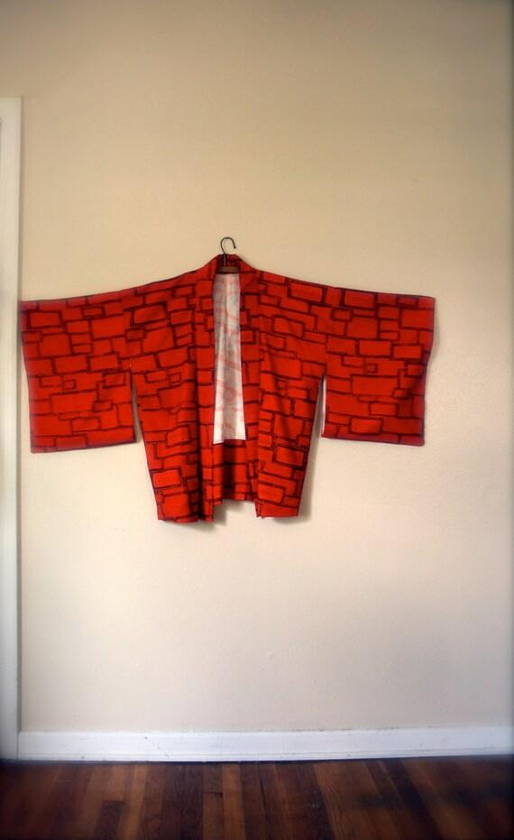 SALE Vintage Japanese Kimono Haori Jacket / Mid Century