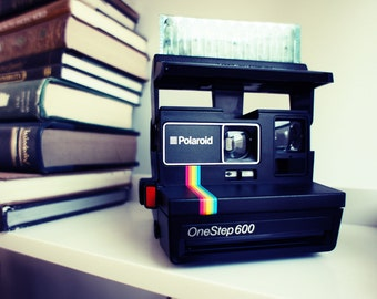 Polaroid Camera 600 Rainbow Spirit OneStep - Film Tested Working