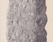 Vintage Print Rocks and Minerals, Kaolin Clay