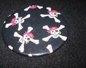 "Pirate Skull with Crossbones 3"" Magnet Easter Basket Gift"