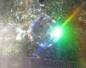 40 mm Crystal Suncatcher Ornament Feng Shui Rainbow Black & Clear