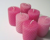 Shades of Pink Votive Candles
