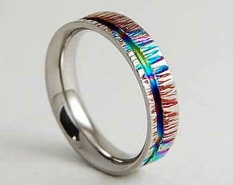 Titanium Ring , Cydonia  Band with Comfort fit