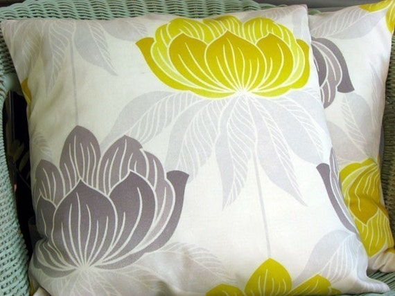 Lotus sunshine 16 inch handmade cushion pillow cover