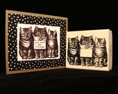 three cats rubber stamp