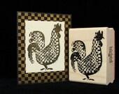check chicken rubber stamp
