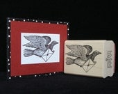 dove mail rubber stamp