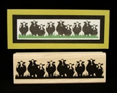 cows rubber stamp