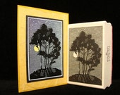 moonlit trees rubber stamp  (smaller)