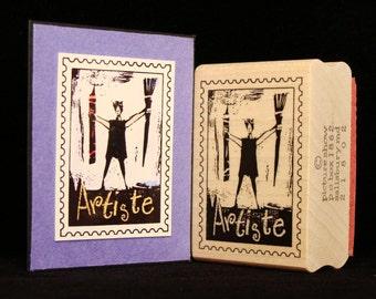 artiste postoid rubber stamp