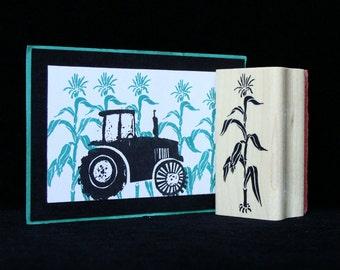 """picture show rubber stamp """"corn stalk"""""""