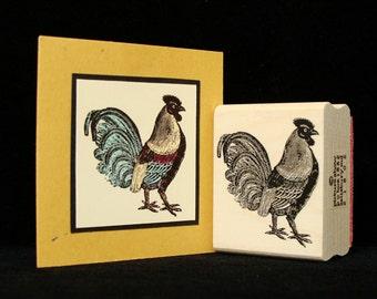 bantam rooster / chicken rubber stamp
