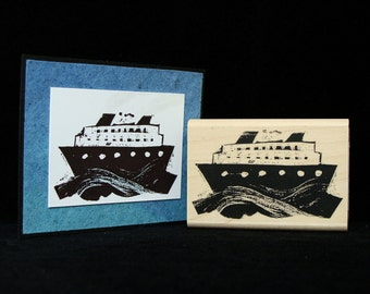 sea cruise rubber stamp
