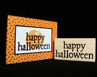 pictureshow happy halloween rubber stamp (sm)