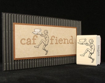"coffee rubber stamp ""caffine guy"""