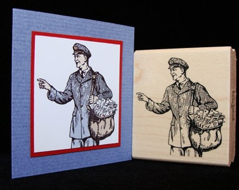 mail man rubber stamp