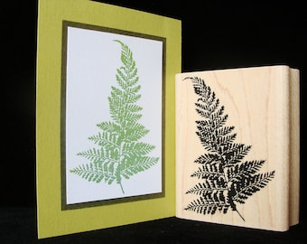 pictureshow rubber stamp,  fern (larger)