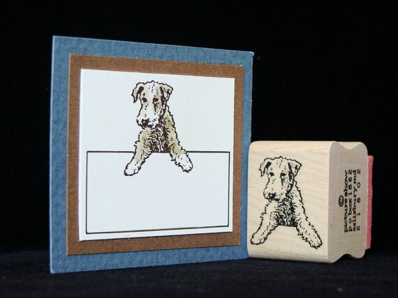 tiny terrier rubber stamp dog