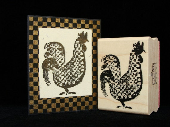 check chicken rubber stamp