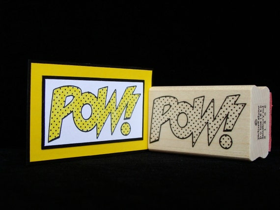 "cartoon rubber stamp ""pow"""