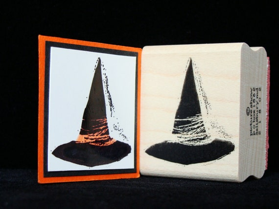 witch hat rubber stamp