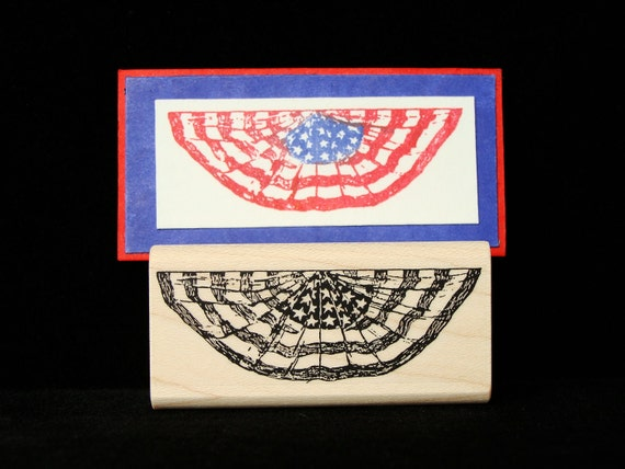 flag bunting rubber stamp