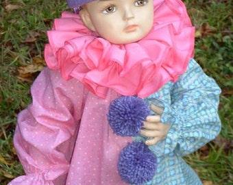 "B168   Clownsuit Costume Wonderful ""Sweet Lavender"" Clown Halloween Costume Toddler 2  Ready To Ship"