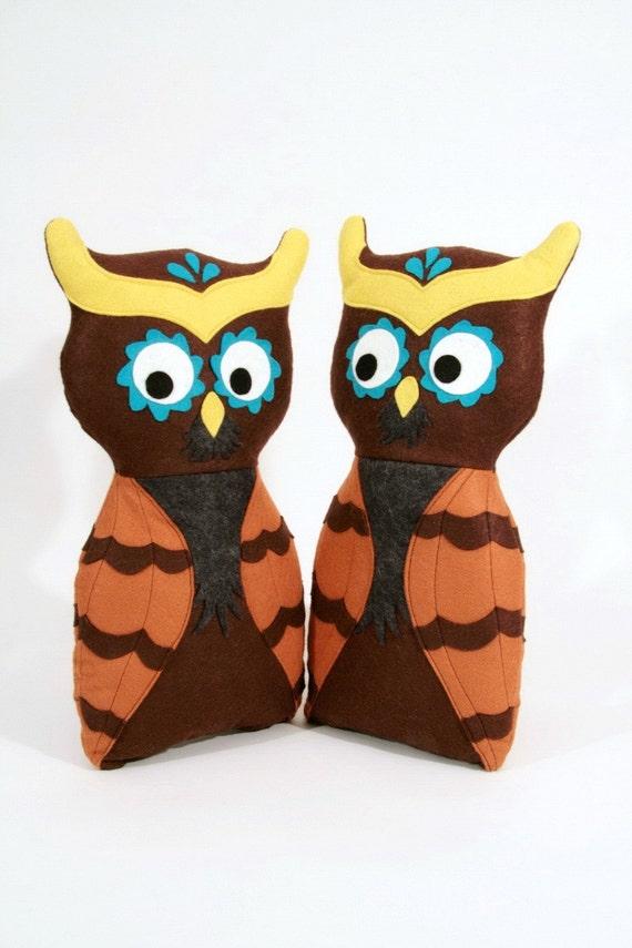 Owl Handmade Huggable Plush- Ready to Ship- Teetoo