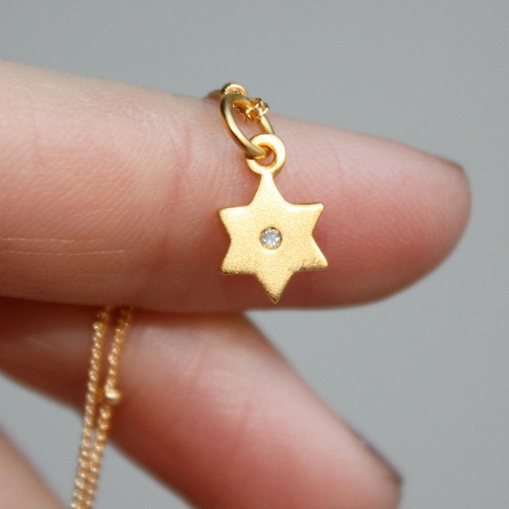 Solid Gold Star of David Necklace - Holidays Fashion, Jewelry, Necklaces . Hanukkah Gift Idea for Her